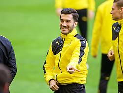 LIVERPOOL, ENGLAND - Wednesday, April 13, 2016: Borussia Dortmund's Nuri Sahin during a training session at Anfield ahead of the UEFA Europa League Quarter-Final 2nd Leg match against Liverpool. (Pic by David Rawcliffe/Propaganda)