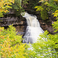 Beautiful Chapel Falls, located in Pictured Rocks National Lakeshore, Munising, MI