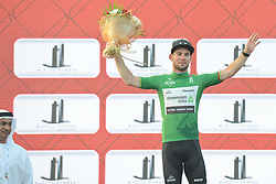 October 21, 2016 - Abu Dhabi, United Arab Emirates - Mark Cavendish, a British professional road racing cyclist from Team Dimension Data, wins the second stage of the Tour of Abu Dhabi, the Nation Towers Stage, a 115km that runs mostly in the city of Abu Dhabi. After two stages, Cavendish takes the leader jersey of the race..On Friday, 21 October 2016, in  Abu Dhabi, UAE. (Credit Image: © Artur Widak/NurPhoto via ZUMA Press)