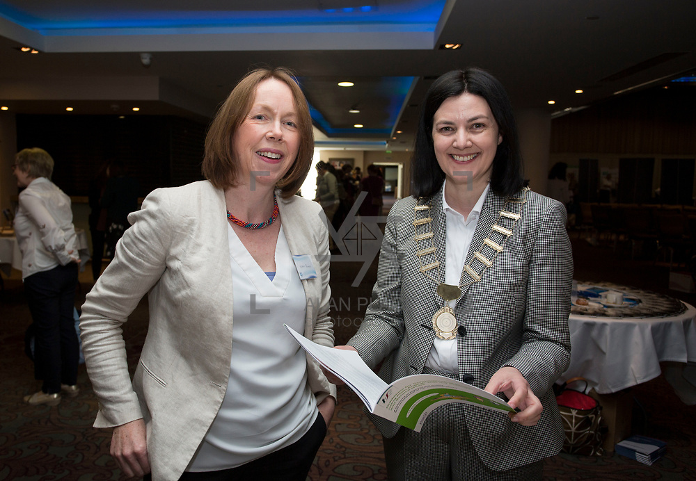 23.05.2018.       <br /> Today, the Institute of Community Health Nursing (ICHN) hosted its&nbsp;2018 community nurse&nbsp;awards in association with&nbsp;Home Instead Senior Care,&nbsp;at its annual nursing conference, in the Strand Hotel Limerick, rewarding public health nurses for their dedication to community care across the country. <br /> <br /> Pictured at the event were, Niamh Quinn, HSE, and Anne Lynott, ICHN President Picture: Alan Place