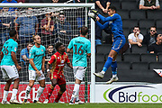 Forest Green Rovers goalkeeper Robert Sanchez(1) catches a cross during the EFL Sky Bet League 2 match between Milton Keynes Dons and Forest Green Rovers at stadium:mk, Milton Keynes, England on 15 September 2018.