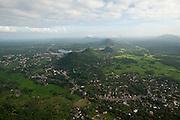 Aerial view over Kurunegala.