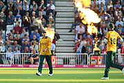 Jake Libby of Nottinghamshire Outlaws fielding during the Vitality T20 Blast North Group match between Nottinghamshire County Cricket Club and Worcestershire County Cricket Club at Trent Bridge, West Bridgford, United Kingdon on 18 July 2019.