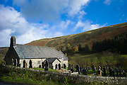 St David's Old Parish Church and graveyard, Church of Wales, in parish of Blaenau Irfon in Brecon Beacons