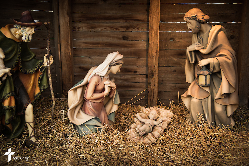 The nativity scene at Village Lutheran Church on Wednesday, Dec. 10, 2015, in Ladue, Mo.  LCMS Communications/Erik M. Lunsford