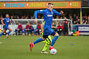 AFC Wimbledon striker Joe Pigott (39) dribbling during the EFL Sky Bet League 1 match between AFC Wimbledon and Bolton Wanderers at the Cherry Red Records Stadium, Kingston, England on 7 March 2020.