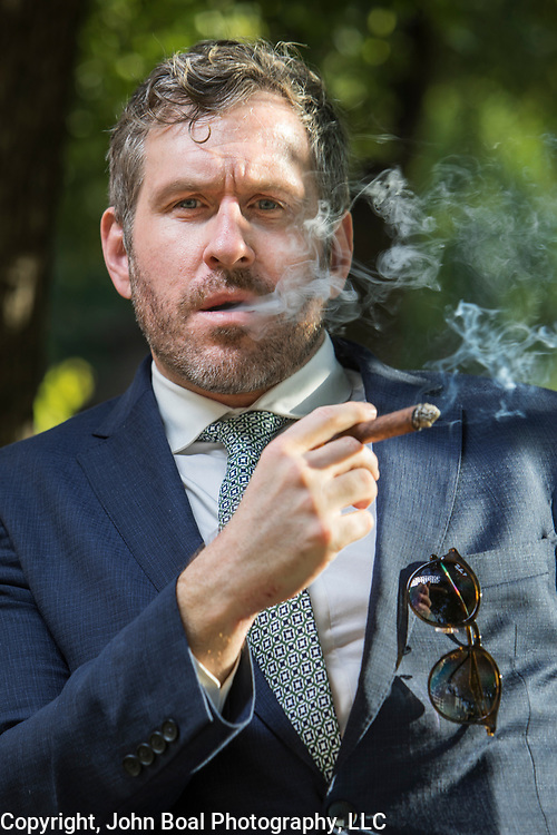 Michael Cernovich, at Farragut Square, near the White House, in Washington, D.C. on Thursday, August 24, 2017. Cernovich is a controversial blogger and social media personality who has promoted conservative or  right wing agendas. For The Boston Globe