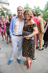 AA GILL and SARAH STANDING at a party to celebrate the 250th anniversary of the Colnaghi Gallery held at Spencer House, London on 1st July 2010.
