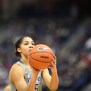 HARTFORD, CONNECTICUT- DECEMBER 19: Gabby Williams #15 of the Connecticut Huskies takes a free throw during the UConn Huskies Vs Ohio State Buckeyes, NCAA Women's Basketball game on December 19th, 2016 at the XL Center, Hartford, Connecticut (Photo by Tim Clayton/Corbis via Getty Images)