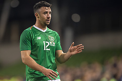 November 15, 2018 - Dublin, Ireland - Enda Stevens of Ireland pictured during the International Friendly match between Republic of Ireland and Northern Ireland at Aviva Stadium in Dublin, Ireland on November 15, 2018  (Credit Image: © Andrew Surma/NurPhoto via ZUMA Press)