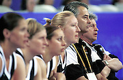 Tall Ferns coach Tracy carpenter during the Women's basketball match between the New Zealand Tall Ferns and Poland at the Olympics in Sydney, Australia on 16 September, 2000. Photo: Dean Treml/PHOTOSPORT<br />