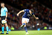 Scotland midfielder Robert Snodgrass (17) (West Ham) takes thee free kick during the UEFA European 2020 Qualifier match between Scotland and Belgium at Hampden Park, Glasgow, United Kingdom on 9 September 2019.