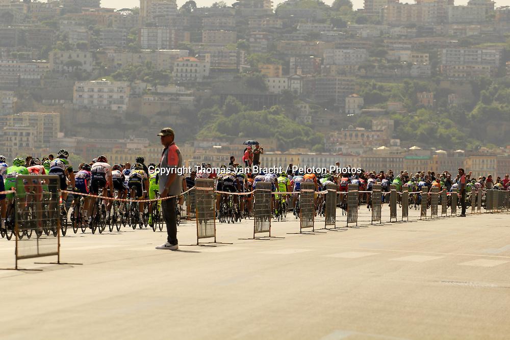 Napoli, Italy - Giro d'Italia - May 4, 2013 - Back of peloton