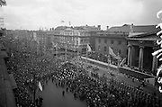 1916 Jubilee Commemorations -Parade and Ceremonies at the General Post Office on O'Connell Street. A general view of the procession.10.04.1966