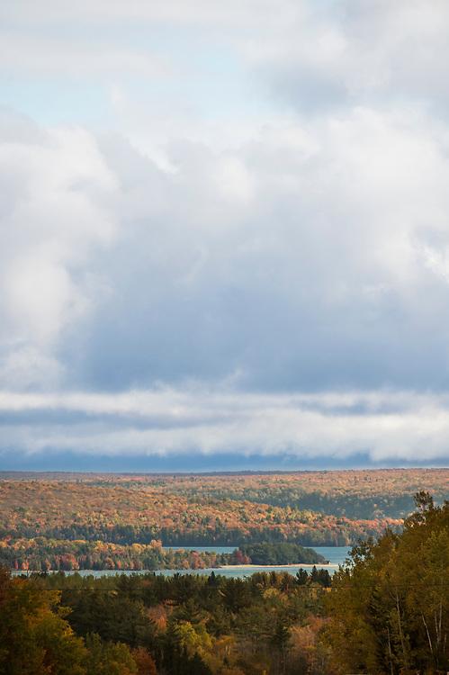 Fall color at Grand Island and Munising Bay on Michigan's Upper Peninsula.