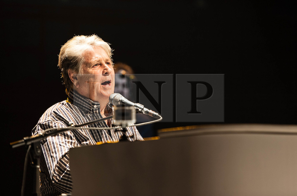 © Licensed to London News Pictures. 27/09/2012. London, UK. Brian Wilson of The Beach Boys performing live at The Royal Albert Hall, London, as part of their 50th Anniversary Tour.  It is reported that this is the final tour that Love, Wilson and Jardine will play together as The Beach Boys - with Love planning on continuing the band with different band members. Photo credit : Richard Isaac/LNP