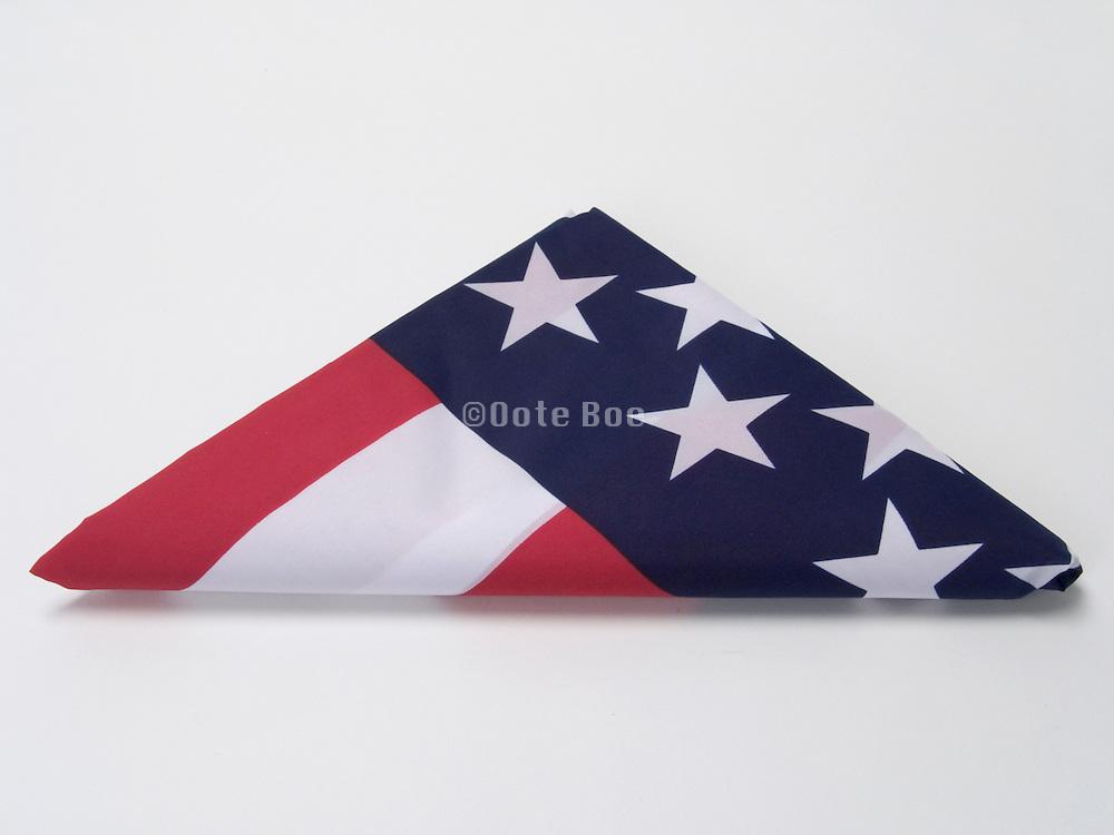 triangular folded American flag