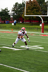 13 October 2012: Andre Stubbs during an NCAA football game between the Youngstown State Penguins and the Illinois State Redbirds.  The Redbirds won the game by a score of 35-28 at Hancock Stadium in Normal Illinois