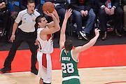 DESCRIZIONE : Milano NBA Global Games EA7 Olimpia Milano - Boston Celtics<br /> GIOCATORE : Andrea Cinciarini<br /> CATEGORIA : Tiro<br /> SQUADRA :  Olimpia EA7 Emporio Armani Milano<br /> EVENTO : NBA Global Games 2016 <br /> GARA : NBA Global Games EA7 Olimpia Milano - Boston Celtics<br /> DATA : 06/10/2015 <br /> SPORT : Pallacanestro <br /> AUTORE : Agenzia Ciamillo-Castoria/IvanMancini<br /> Galleria : NBA Global Games 2016 Fotonotizia : NBA Global Games EA7 Olimpia Milano - Boston Celtics