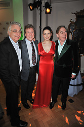 Left to right, BILL KENWRIGHT, MICHAEL CRAWFORD, DANIELLE HOPE and ANDREW LLOYD WEBBER at the press night of the new Andrew Lloyd Webber  musical 'The Wizard of Oz' at The London Palladium, Argylle Street, London on 1st March 2011 followed by an aftershow party at One Marylebone, London NW1