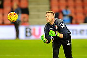 AFC Bournemouth goalkeeper Artur Boruc warming up before the Barclays Premier League match between Bournemouth and Southampton at the Goldsands Stadium, Bournemouth, England on 1 March 2016. Photo by Graham Hunt.
