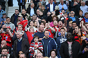 Fans during the Sussex Senior Cup Final match between Eastbourne Borough and Worthing FC at the American Express Community Stadium, Brighton and Hove, England on 20 May 2016.