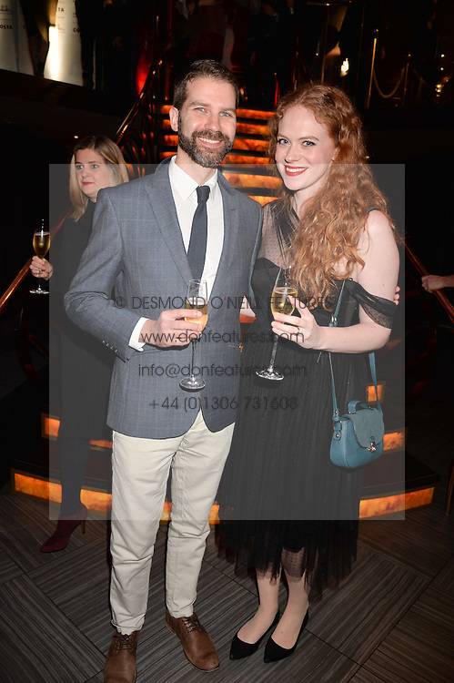 Anna James and Eric Anderson at the Costa Book of The Year Awards held at Quaglino's, 16 Bury Street, London England. 31 January 2017.