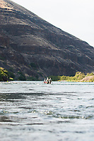 Fly fishing along the Deschutes River in eastern Oregon.