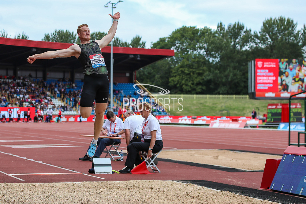 Greg RUTHERFORD of Great Britain in the Men's Long Jump during the Muller Grand Prix 2018 at Alexander Stadium, Birmingham, United Kingdom on 18 August 2018. Picture by Toyin Oshodi.