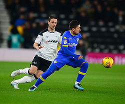 PABLO HERNANDEZ  LEEDS UNITED, Derby County v Leeds United, Championship League Pride Park Tuesday 21st February 2018, Score 2-2, :Photo Mike Capps