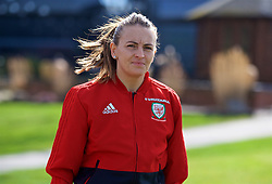 SOUTHAMPTON, ENGLAND - Friday, April 6, 2018: Wales' Kayleigh Green during a pre-match walk at the Marriott Meon Valley Hotel & Country Club ahead of the FIFA Women's World Cup 2019 Qualifying Round Group 1 match between England and Wales. (Pic by David Rawcliffe/Propaganda)