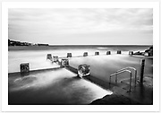 Late afternoon long exposure overlooking Ross Jones Memorial Pool [Coogee NSW, Australia]<br /> <br /> To purchase please email orders@girtbyseaphotography.com quoting the image number 108002BW, and your preferred print size. You will receive a quick reply recommending print media options to best suit your chosen image, plus an obligation-free quotation. Current standard size prices are published on the Pricing page.