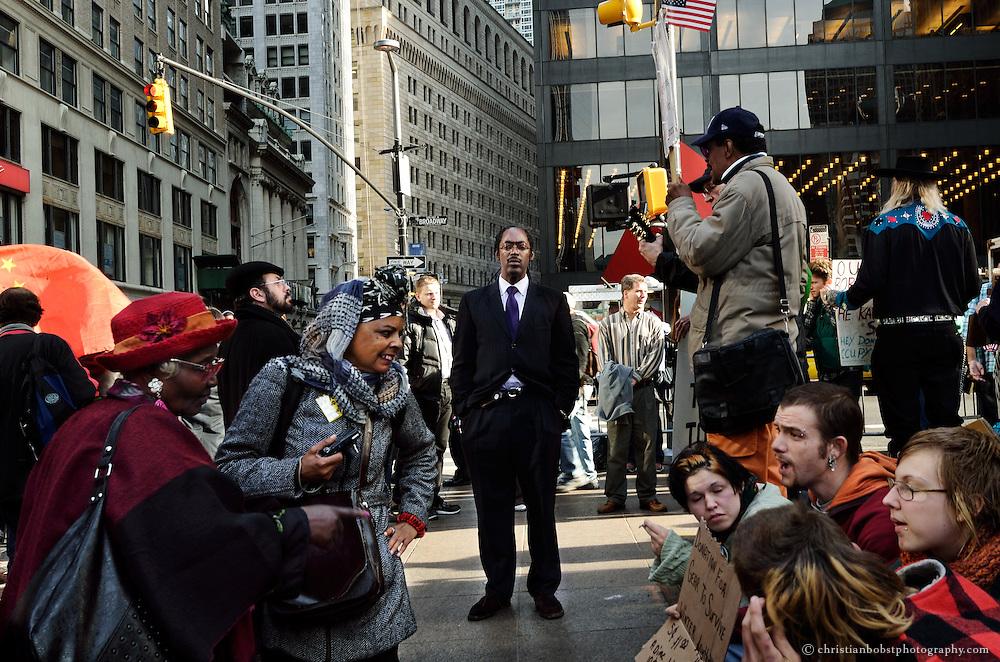Before the police raid: Occupy Wall Street at New York´s Zuccotti Park  November 14 2011