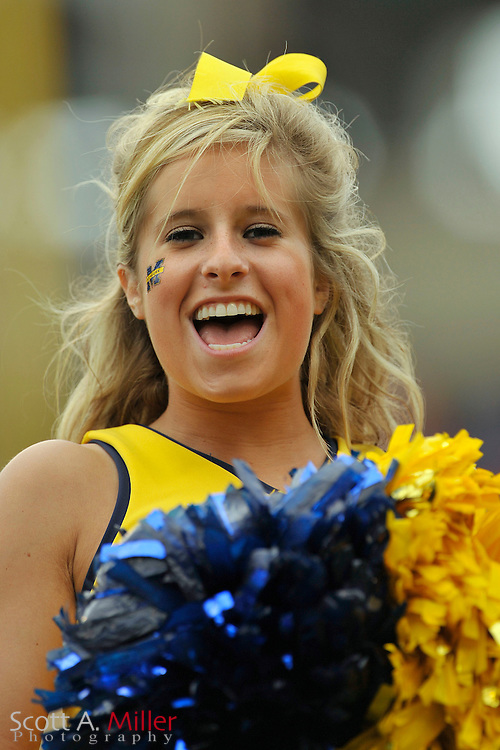 Jan. 1, 2008; Orlando, FL, USA; Michigan Wolverines cheerleader during the Wolverines 41-35 win over the Florida Gators in the Capital One Bowl at the Citrus Bowl. It was Carr's final game as coach...©2008 Scott A. Miller