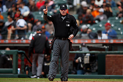 SAN FRANCISCO, CA - MAY 26: MLB umpire Tom Woodring #75 stands on the field during the sixth inning between the San Francisco Giants and the Arizona Diamondbacks at Oracle Park on May 26, 2019 in San Francisco, California. The Arizona Diamondbacks defeated the San Francisco Giants 6-2. (Photo by Jason O. Watson/Getty Images) *** Local Caption *** Tom Woodring