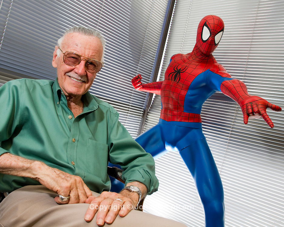 Stan Lee, creator of Spiderman and a comic book writer, editor, actor, producer, publisher, television personality, and the former president and chairman of Marvel Comics.