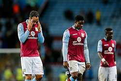 Joleon Lescott and Kieran Richardson of Aston Villa look dejected after Everton win 1-3 - Mandatory byline: Rogan Thomson/JMP - 01/03/2016 - FOOTBALL - Villa Park Stadium - Birmingham, England - Aston Villa v Everton - Barclays Premier League.