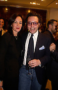 Daniella Agnelli and Emanuelle della Valle.  Tod's hosts Book signing with Dante Ferretti celebrating the launch of 'Ferretti,- The art of production design' by Dante Ferretti. tod's, Old Bond St. 19 April 2005.  ONE TIME USE ONLY - DO NOT ARCHIVE  © Copyright Photograph by Dafydd Jones 66 Stockwell Park Rd. London SW9 0DA Tel 020 7733 0108 www.dafjones.com