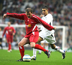LIVERPOOL, ENGLAND - SUNDAY MARCH 27th 2005: Liverpool Legends' Kenny Dalglish and Celebrity XI's boxer Amir Khan during the Tsunami Soccer Aid match at Anfield. (Pic by David Rawcliffe/Propaganda)