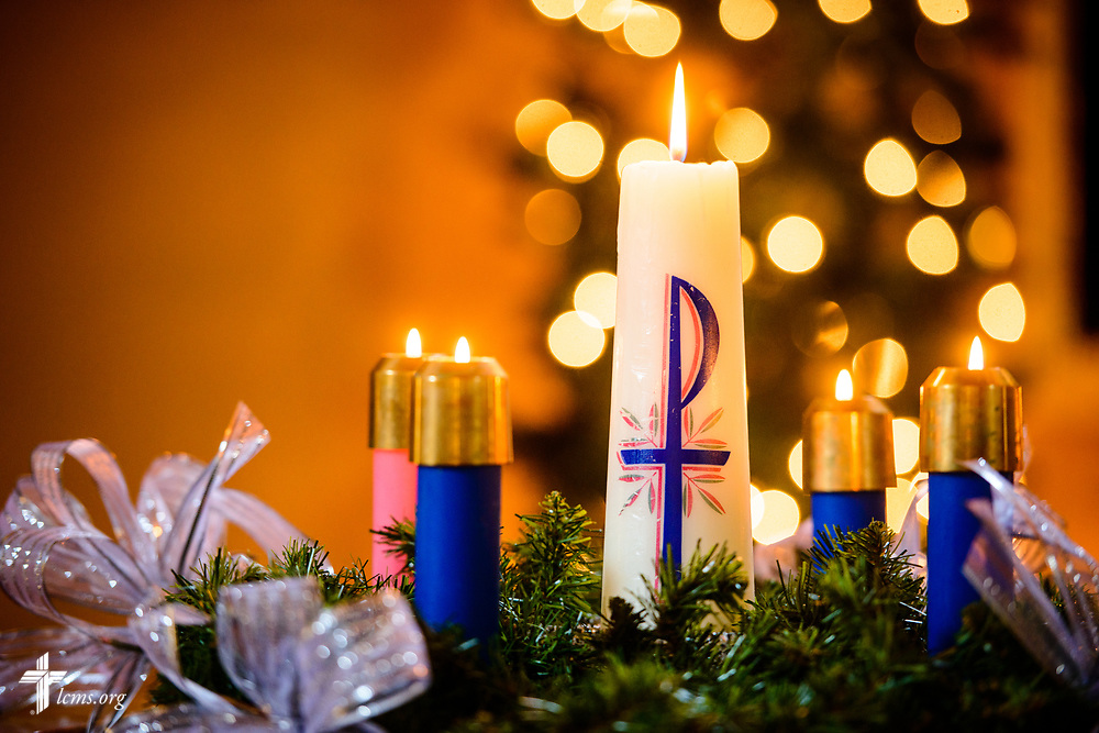 Advent candles at Zion Lutheran Church, Mascoutah, Ill., on Monday, Nov. 27, 2017. LCMS Communications/Erik M. Lunsford