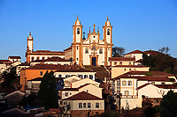 view of the Igreja de Nossa Senhora do Carmo of the UNESCO world heritage city of Ouro Preto in Minas Gerais Brazil