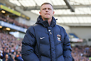 Coventry City manager Mark Robins during the The FA Cup match between Brighton and Hove Albion and Coventry City at the American Express Community Stadium, Brighton and Hove, England on 17 February 2018. Picture by Phil Duncan.