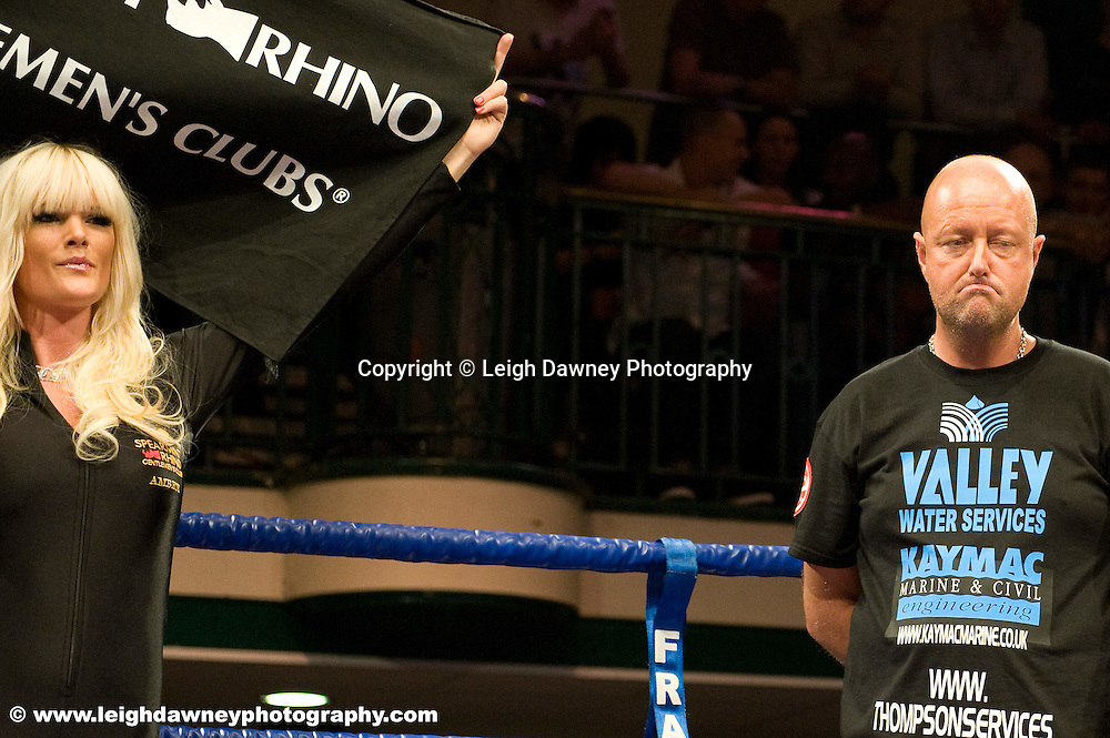 Dean Powell at York Hall, Bethnal Green 9th ocotber 2009. Frank Warren Promotions.Credit: ©Leigh Dawney Photography