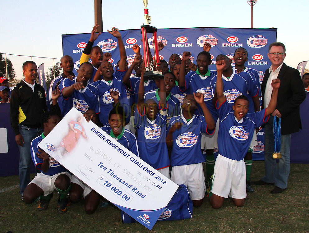 Engen Knock Out Challenge Winners School of Excellence during the final day of the Engen Knock Out Challenge held at Marks Park, Emmarentia  in Johannesburg on the 9th September 2012..Photo by Shaun Roy/ SPORTZPICS..