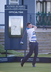Brian O'driscoll. Alfred Dunhill Links Championship this morning at St Andrews.