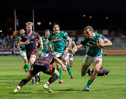 Benetton Treviso's Alberto Sgarbi breaks<br /> <br /> Photographer Simon King/Replay Images<br /> <br /> 1 Round 1 - Dragons v Benetton Treviso - Saturday 1st September 2018 - Rodney Parade - Newport<br /> <br /> World Copyright © Replay Images . All rights reserved. info@replayimages.co.uk - http://replayimages.co.uk