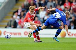 Bristol City's Luke Freeman turns inside Rochdale's Jamie Allen - Photo mandatory by-line: Dougie Allward/JMP - Mobile: 07966 386802 23/08/2014 - SPORT - FOOTBALL - Manchester - Spotland Stadium - Rochdale AFC v Bristol City - Sky Bet League One