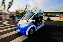 CHINA PUDONG DISTRICT SHANGHAI 23MAY10 - Electric vehicles at the Expo 2010 in Shanghai, China...jre/Photo by Jiri Rezac..© Jiri Rezac 2010