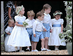 Bridesmaids and Page boys at the wedding of James Meade and  Lady Laura Marsham  in Gayton, Norfolk, United Kingdom,  Saturday, 14th September 2013. Picture by Stephen Lock / i-Images