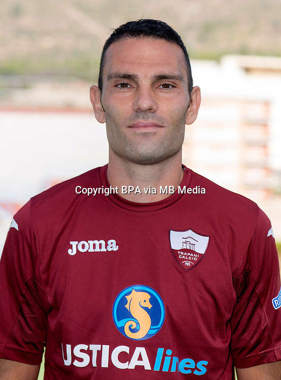 Italian League Serie B_2015-2016 / <br /> ( Trapani Calcio 1905 ) -  <br /> Luca Pagliarulo